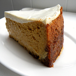 68 Days of Gourmet: Bourbon Pumpkin Cheesecake | bakin' and eggs