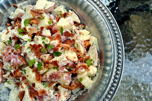 Bacon Ranch Potato Salad | bakin' and eggs